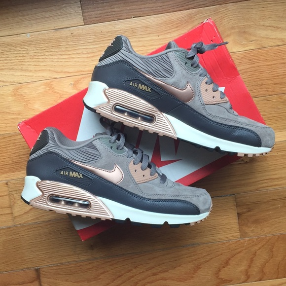 Nike Air Max 90 Leather 9 iron metallic rose gold